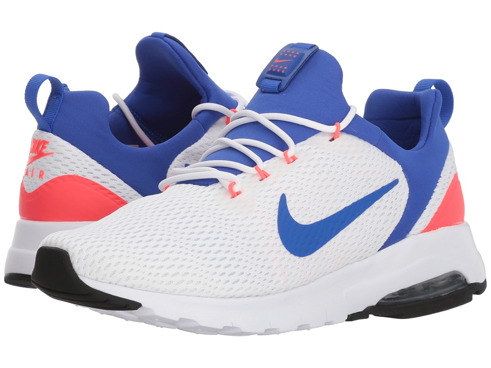 Nike Air Max Motion LW Racer (White/Ultramarine/Solar Red) Women's Shoes