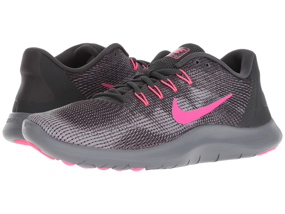 Nike Flex RN 2018 (Anthracite/Hyper Pink/Wolf Grey) Women's Running Shoes