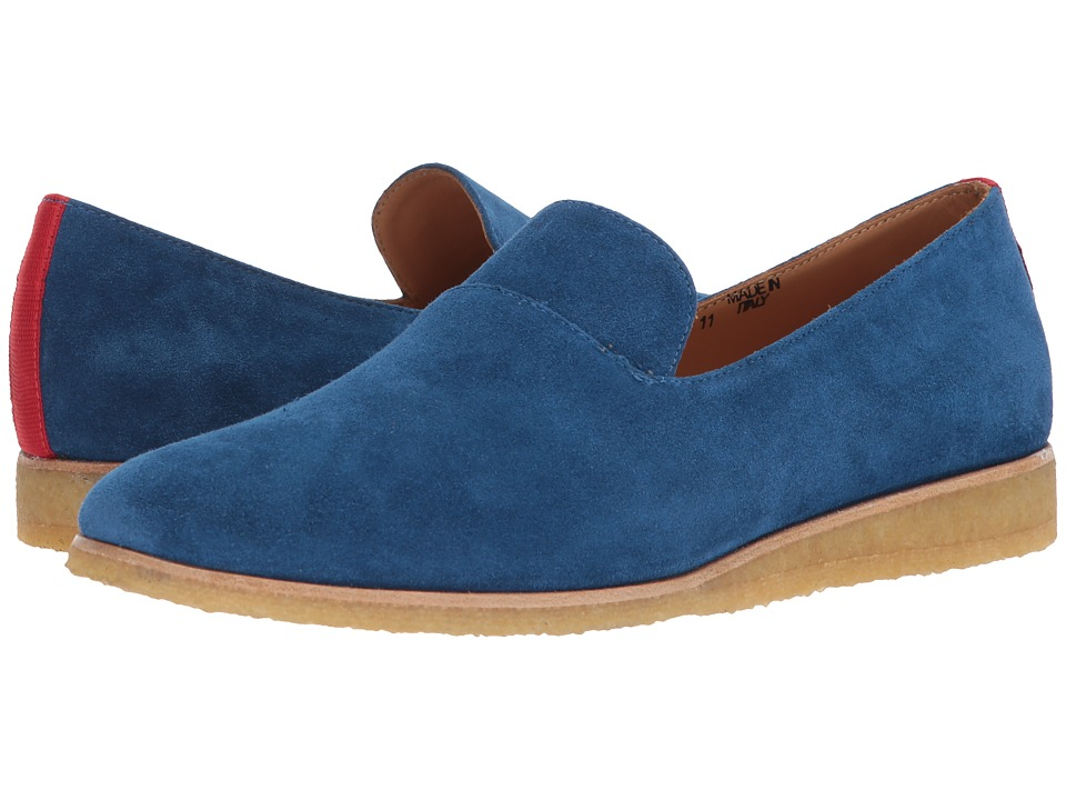 Del Toro - Suede Loafer (Navy) Mens Slip-on Dress Shoes