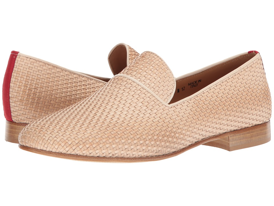 Del Toro - Intrecciato Loafer (Sand) Mens Slip-on Dress Shoes