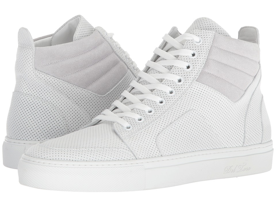 Del Toro - High Top Boxing Sneaker (White) Mens Lace up casual Shoes