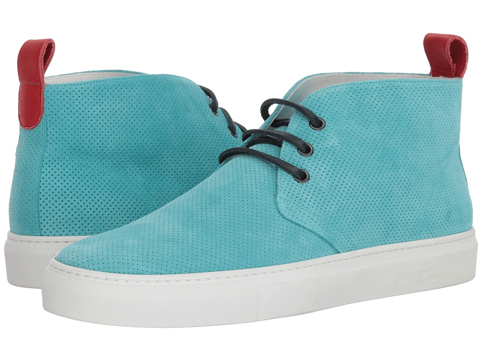 Del Toro - High Top Chukka Sneaker (Aqua Perf) Mens Shoes