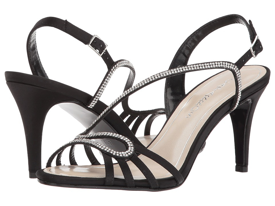 Caparros - Lindzay (Black New Satin) Womens Shoes