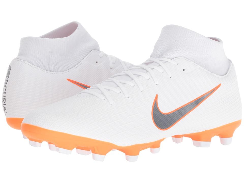 Nike Superfly 6 Academy MG (White/Metallic Cool Grey/Tota...