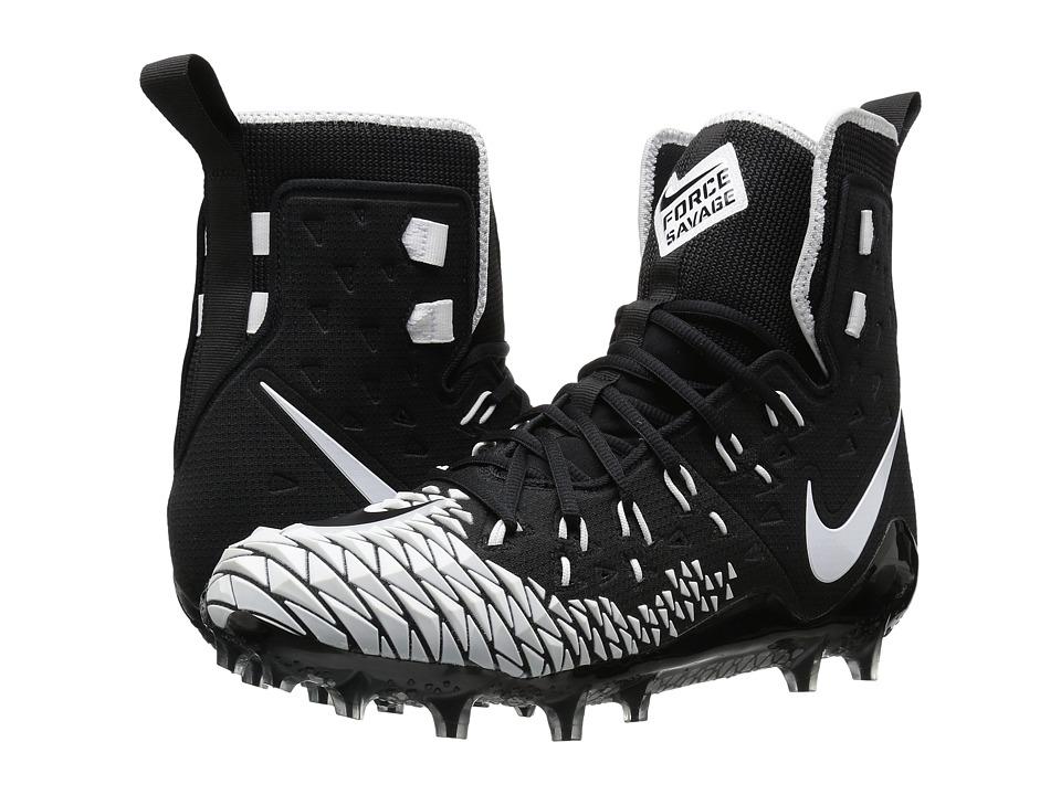 Nike Force Savage Elite TD (Black/White/Black) Men's Clea...