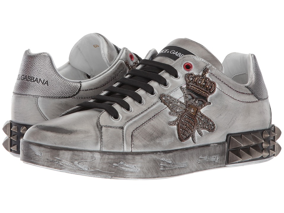 Dolce & Gabbana Bee Sneaker (White/Silver) Men