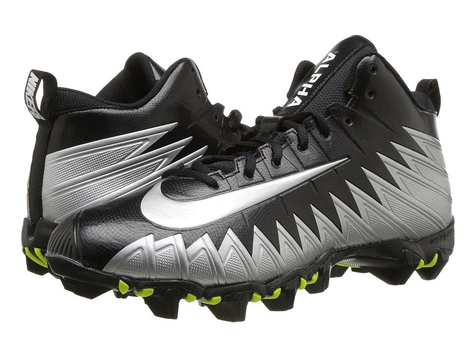 Nike Alpha Menace Shark Wide (Black/Metallic Silver) Men'...