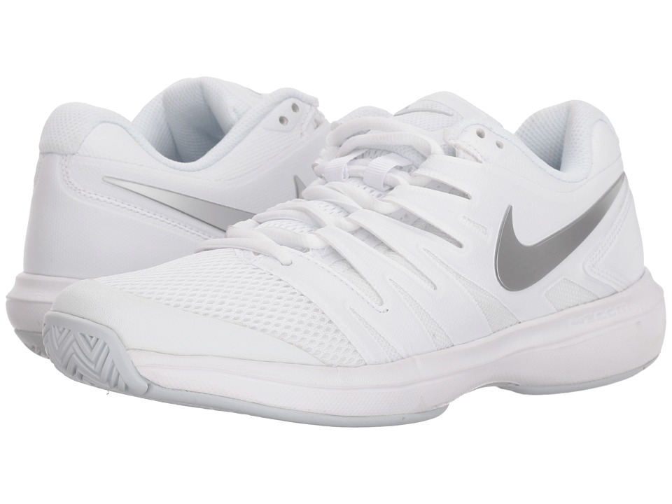 Nike Air Zoom Prestige (White/Metallic Silver/Pure Platinum) Women's Tennis Shoes