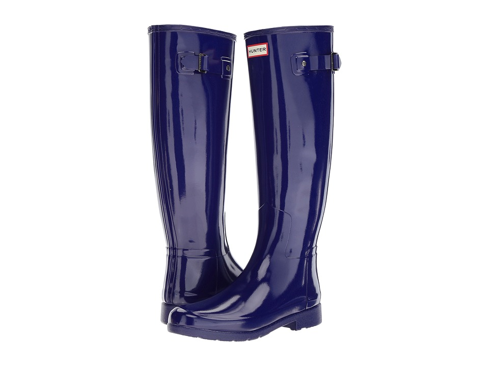 Hunter Original Refined Gloss Rain Boots (Neptune) Women