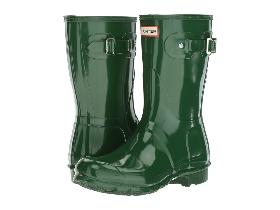 Hunter Original Short Gloss Rain Boots (Hunter Green) Women