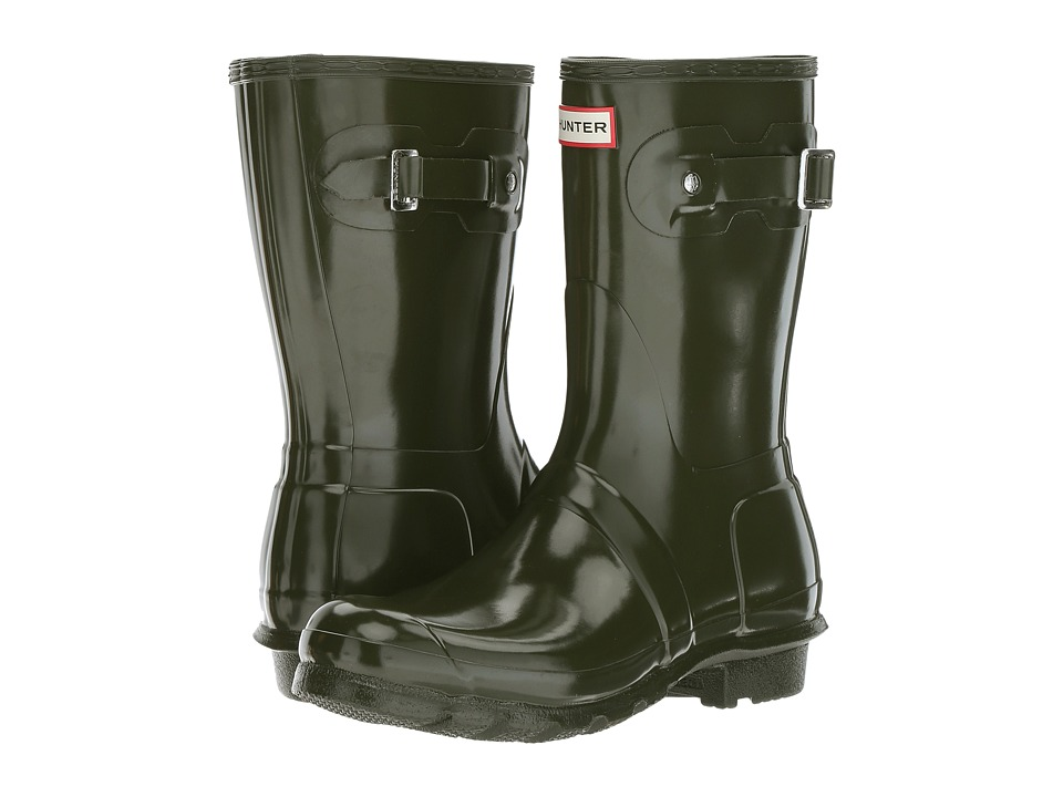 Hunter Original Short Gloss Rain Boots (Dark Olive) Women