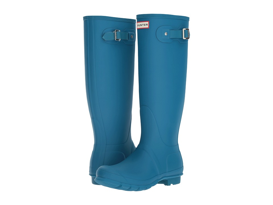 Hunter Original Tall Rain Boots (Ocean Blue) Women