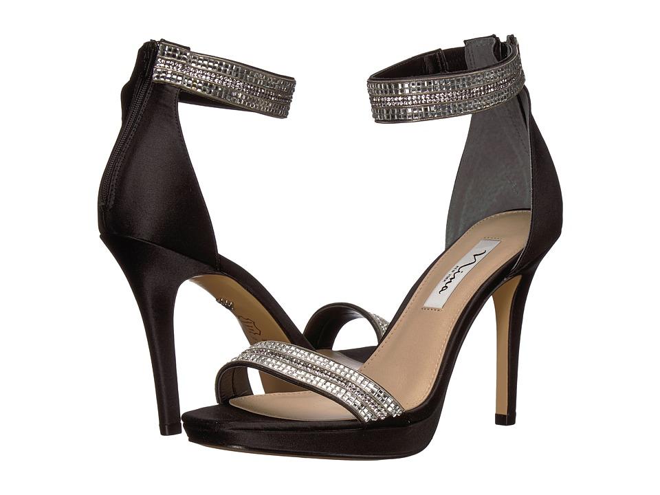 Nina Aubrie (Black Luster Satin) High Heels