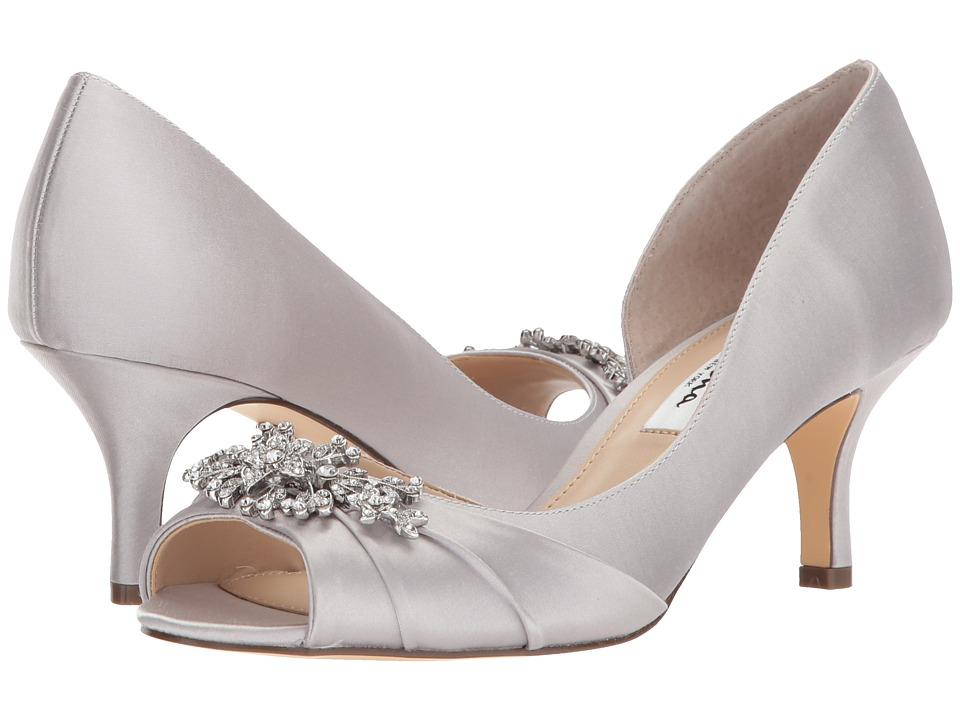 Nina Cyrene (Silver Crystal Satin) High Heels