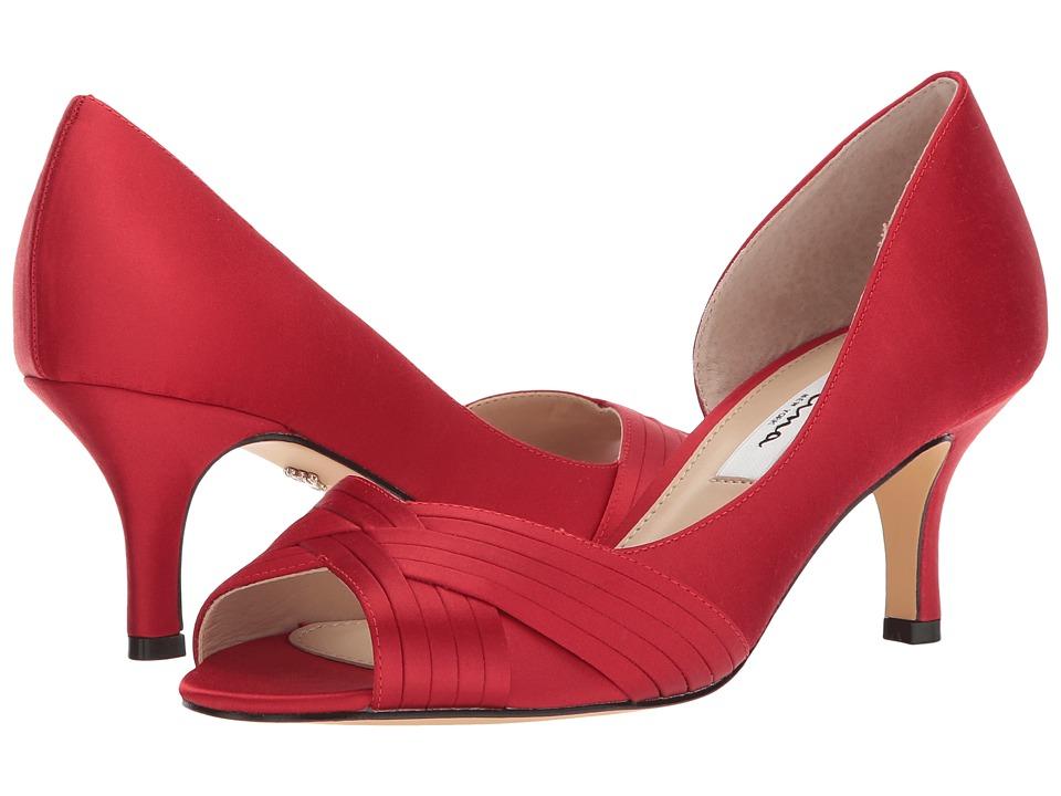 Nina Contesa (Red Rouge Luster Satin) High Heels