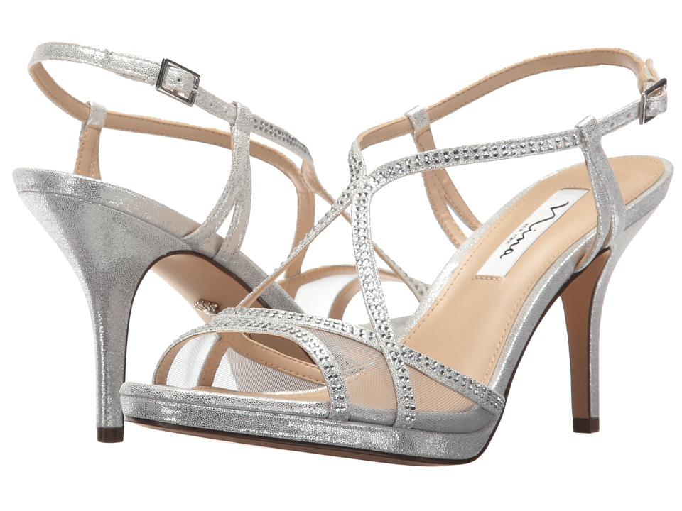 NinaBlossom  (Silver Stardust-Silver Skylight-Mesh) High Heels