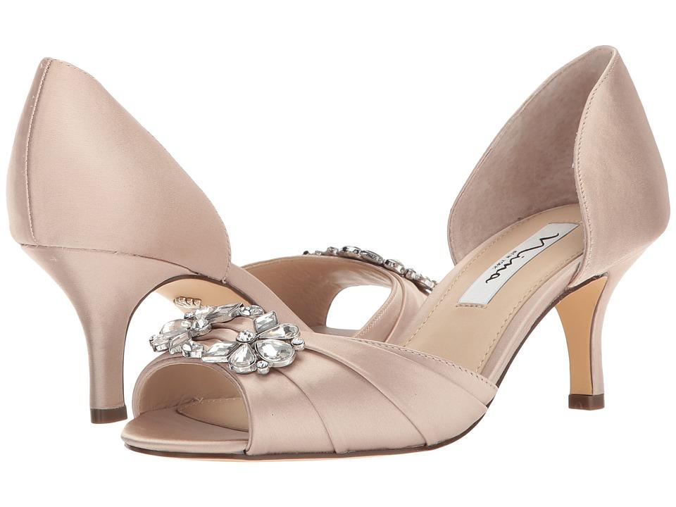 Nina Charisa (Champagne Crystal Satin) High Heels