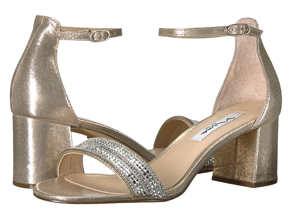 Nina Elenora (Taupe Reflective Suedette) 1-2 inch heel Shoes