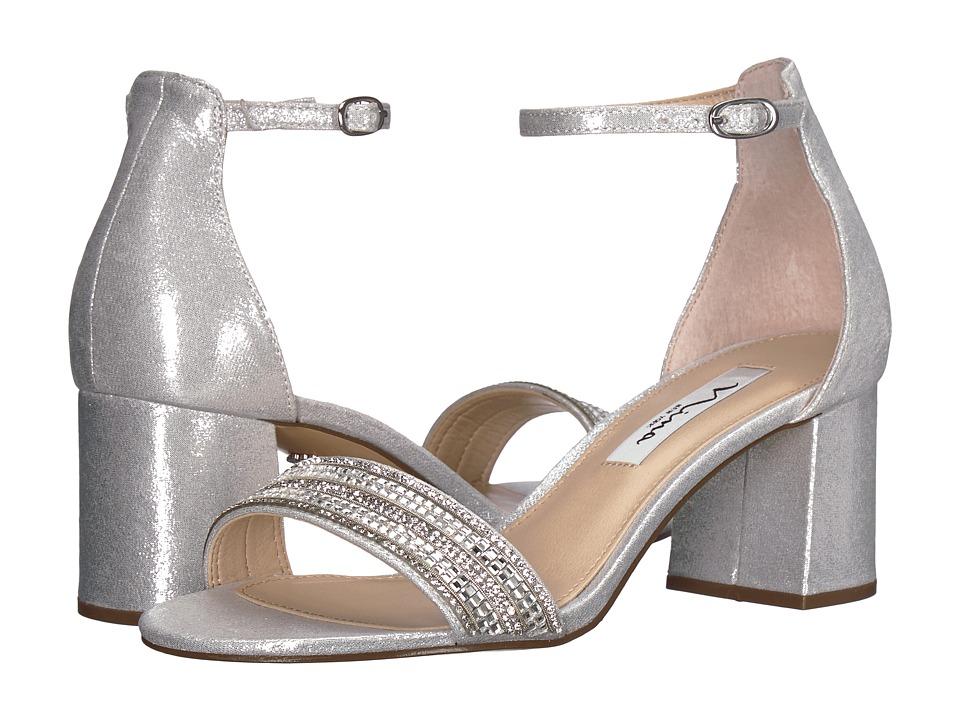 Nina Elenora (True Silver Reflective Suedette) 1-2 inch heel Shoes