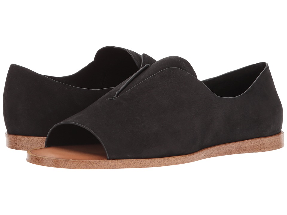 1.STATE - Cassidee (Black Rio Nubuck) Womens Toe Open Shoes