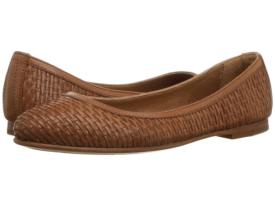 Frye - Carson Woven Ballet (Cognac) Womens Shoes