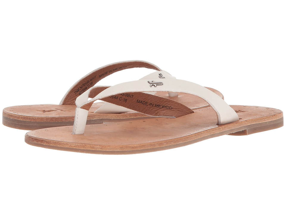 Frye Ally Logo Flip-Flop (White) Sandals