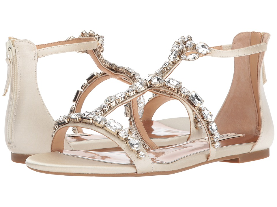 Badgley Mischka - Waren (Ivory Satin) Women's Dress Sandals