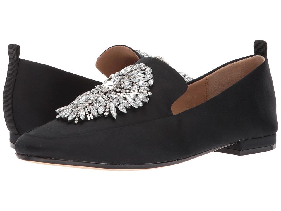 Badgley Mischka - Salma (Black Satin) Womens Shoes