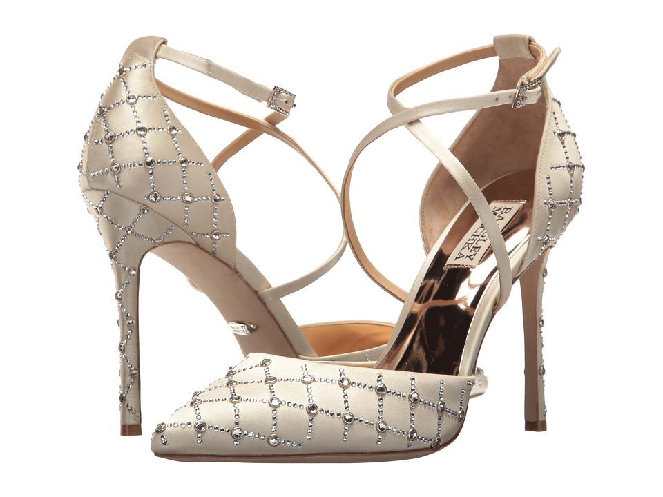Badgley Mischka - Shiloh (Ivory Satin) Women's Toe Open Shoes