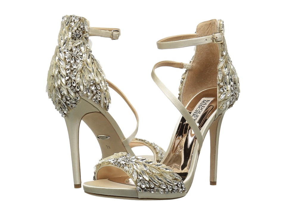 Badgley Mischka - Selena (Ivory Satin) Womens Shoes