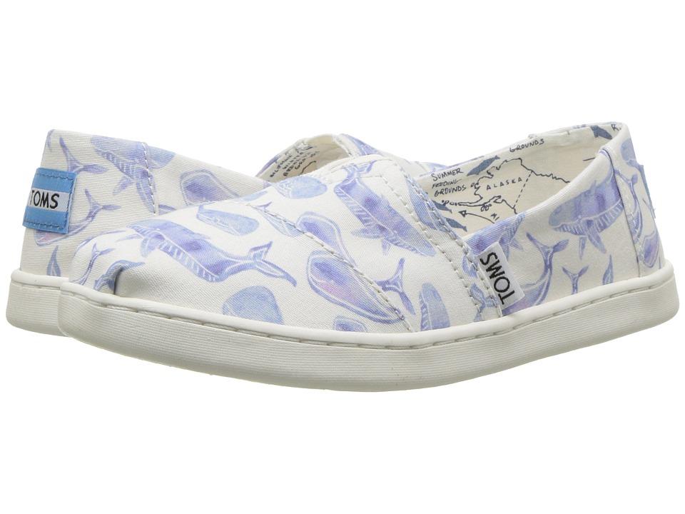 TOMS Kids - Oceana Alpargata (Infant/Toddler/Little Kid/Big Kid) (Multi Watercolor Whale) Girls Shoes