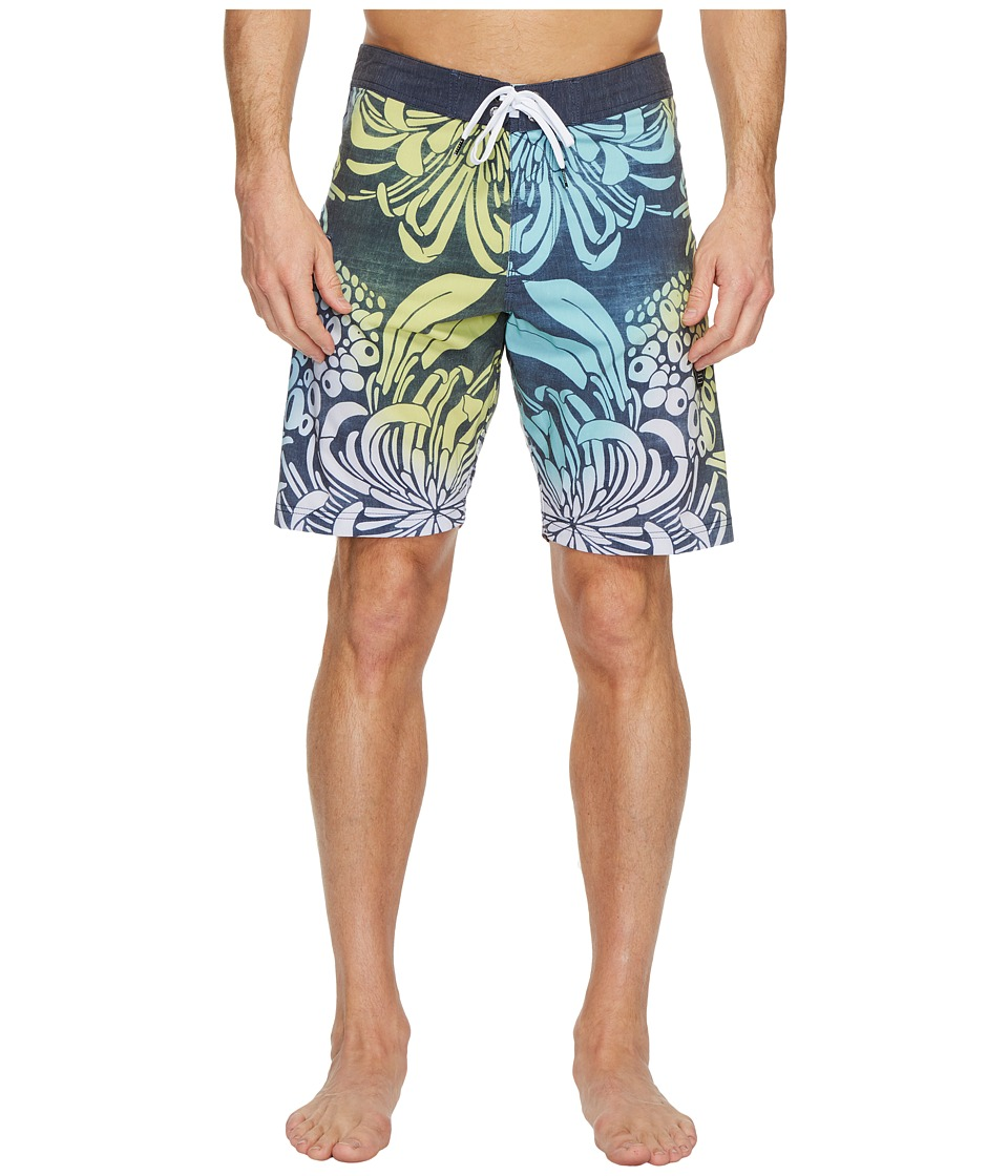 VISSLA Bloom Bay Washed Four-Way Stretch Boardshorts 20 (Dark Navy) Men