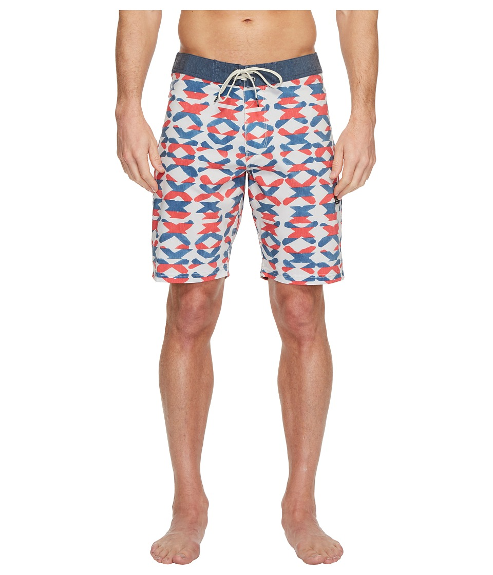 VISSLA Crossing Washed Four-Way Stretch Boardshorts 20 (Bone) Men