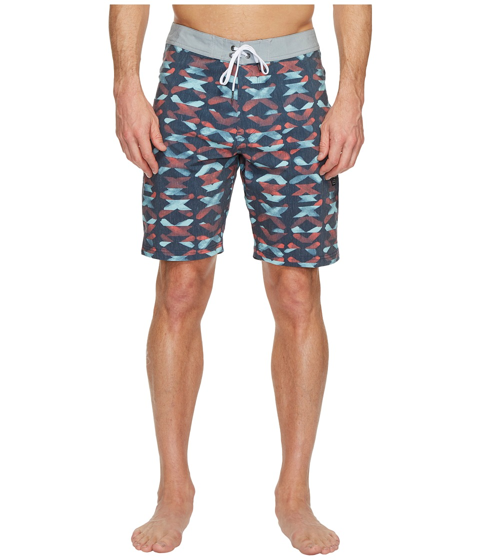 VISSLA Crossing Washed Four-Way Stretch Boardshorts 20 (Dark Naval) Men
