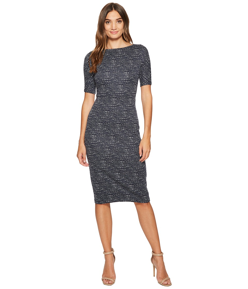 Maggy London - Brushed Abstract Jacquard Sheath