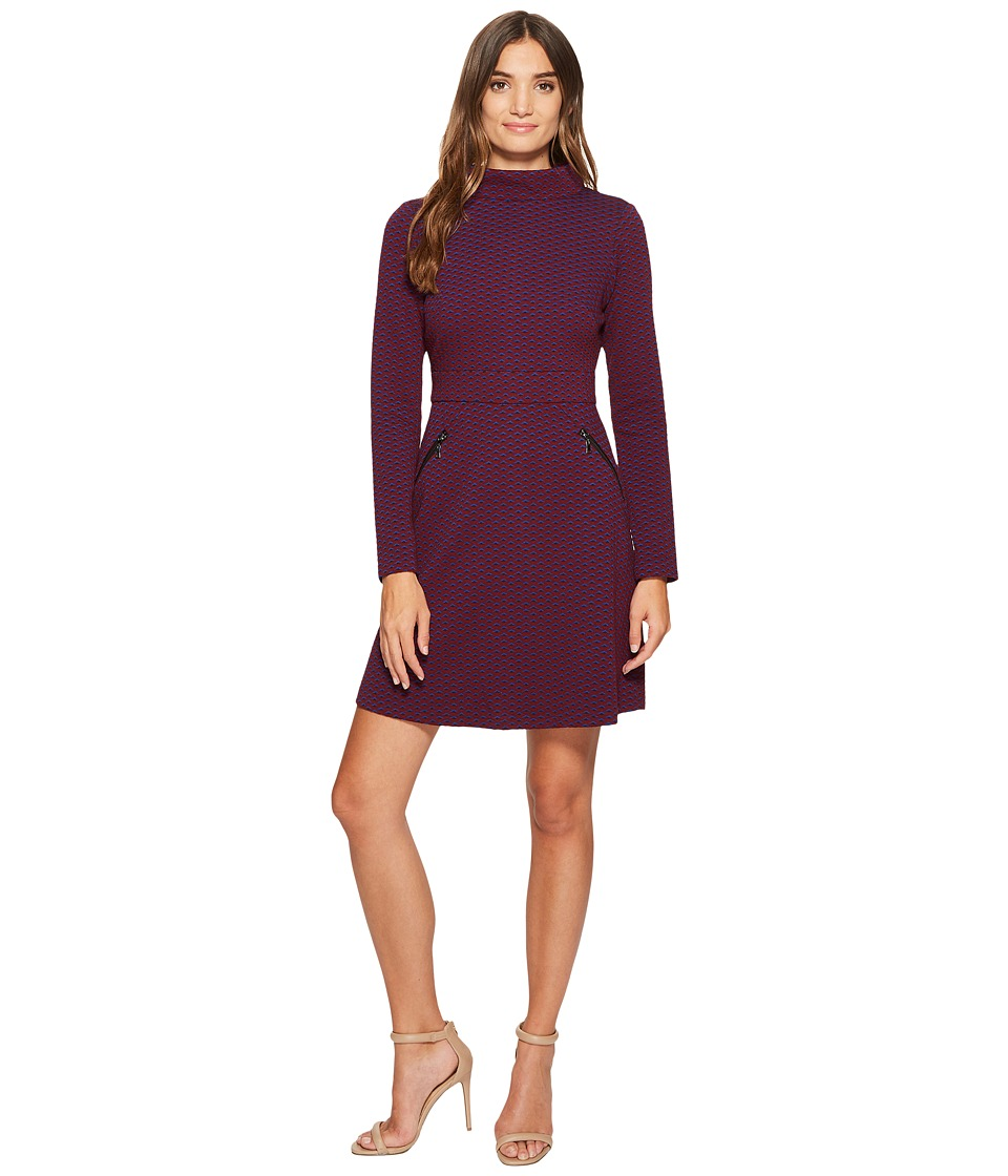 Maggy London - Retro Jacquard Fit Flare Dress