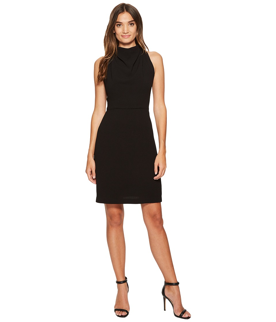 Maggy London 30s Crepe Fit Flare with Lace Back Detail (Black) Women