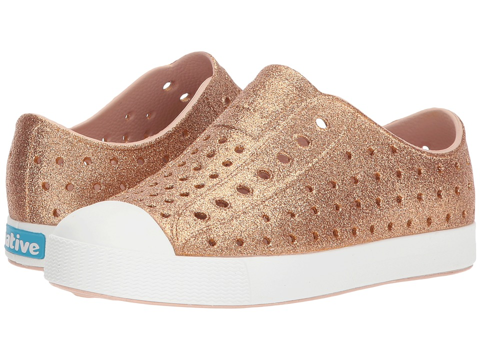 Native Kids Shoes Jefferson Bling Glitter (Little Kid/Big Kid) (Rose Gold Bling) Girls Shoes