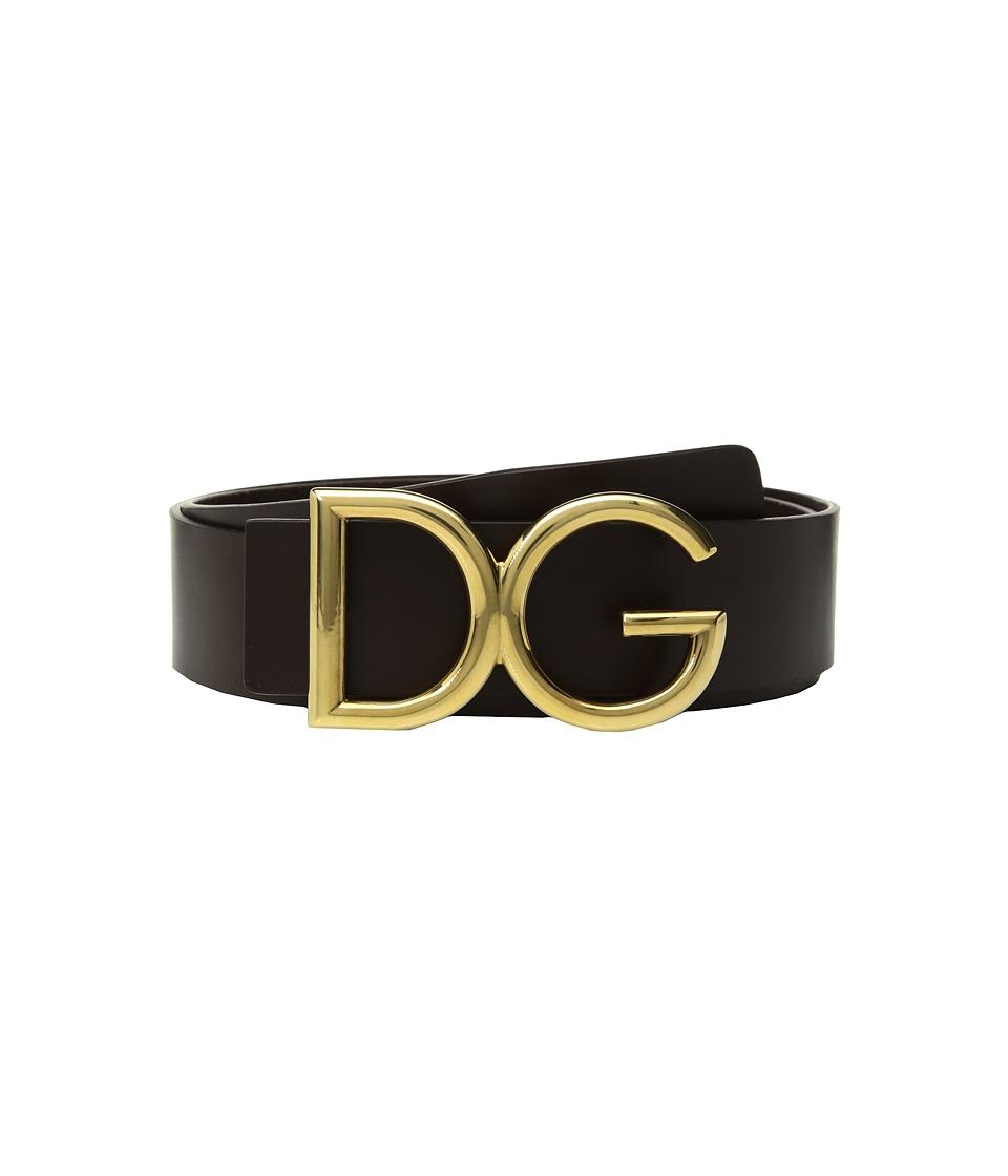 Dolce & Gabbana - Logo Belt (Ebano) Mens Belts