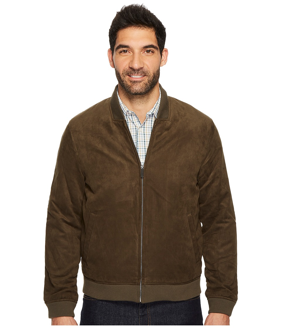 Perry Ellis - Faux Suede Bomber Jacket