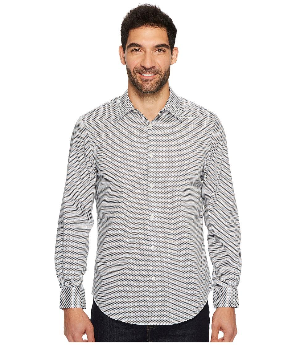 Perry Ellis Long Sleeve Modern Geo Print Shirt (Bungee Cord) Men