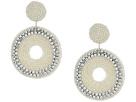 Kenneth Jay Lane Seedbead Circle Drop Direct Post Earrings