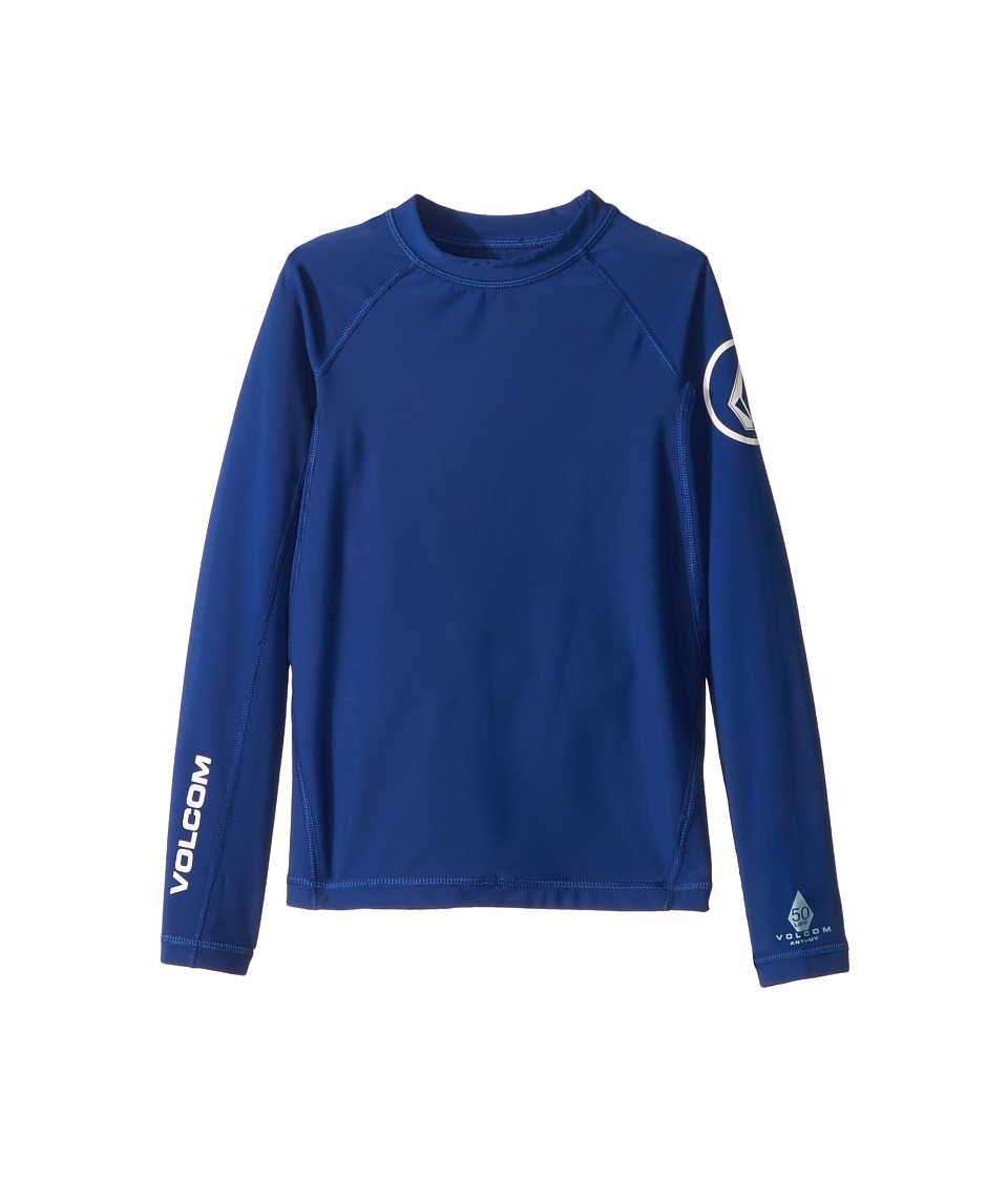 Volcom Kids - Lido Solid Long Sleeve Thrashguard (Big Kids) (Camper Blue) Boys Swimwear