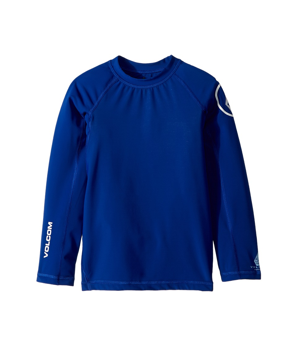 Volcom Kids - Lido Solid Long Sleeve Thrashguard (Toddler/Little Kids) (Camper Blue) Boys Swimwear