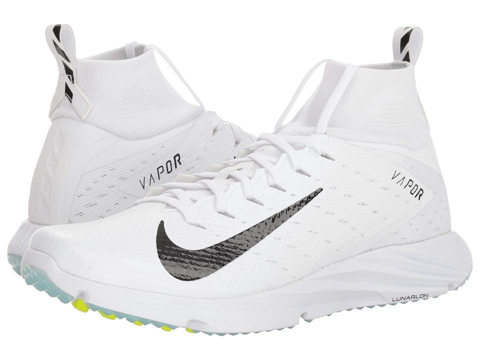 Nike Vapor Speed Turf 2 (White/Black) Men's Cleated Shoes