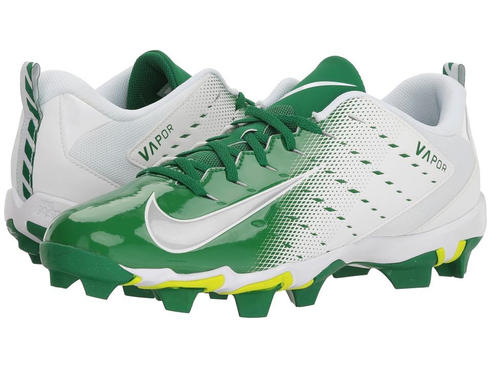 Nike Vapor Shark 3 (White/Metallic Silver/Pine Green) Men...