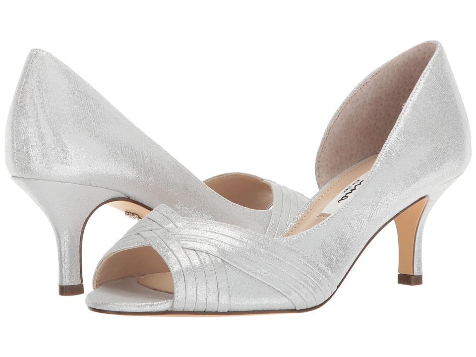 Nina Contesa (True Silver Reflective Suedette) High Heels