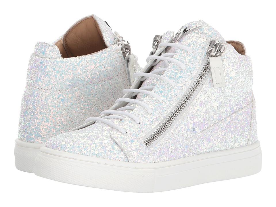 Giuseppe Zanotti Kids - London Sneaker (Toddler/Little Kid) (Silver) Kids Shoes