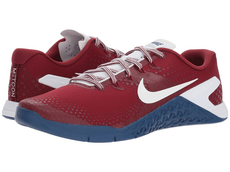 0ab15792dfb2a ... official nike metcon 4 americana team red white gym blue mens cross  training 2bc11 a6ce6