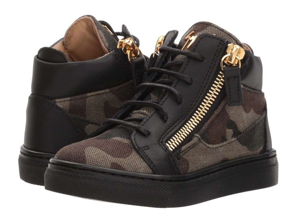 Giuseppe Zanotti Kids - London Sneaker (Toddler) (Khaki/Green) Kids Shoes